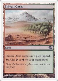 Shivan Oasis, Magic: The Gathering, 8th Edition