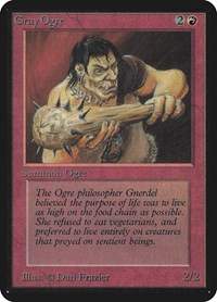 Gray Ogre, Magic: The Gathering, Alpha Edition