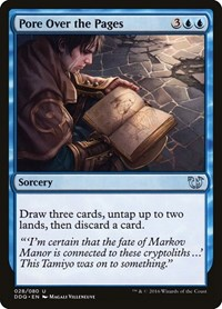Pore Over the Pages, Magic: The Gathering, Duel Decks: Blessed vs. Cursed