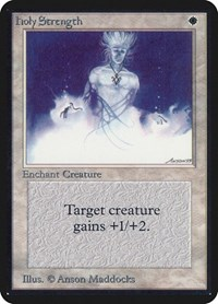 Holy Strength, Magic: The Gathering, Alpha Edition