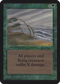 Hurricane, Magic: The Gathering, Alpha Edition