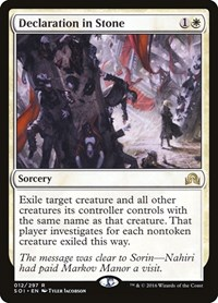Declaration in Stone, Magic: The Gathering, Shadows over Innistrad