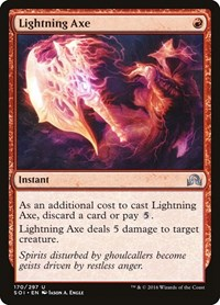 Lightning Axe, Magic: The Gathering, Shadows over Innistrad