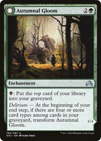 Autumnal Gloom, Magic: The Gathering, Shadows over Innistrad