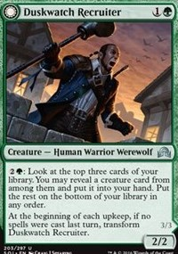 Duskwatch Recruiter, Magic, Shadows over Innistrad