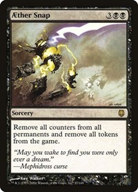 Aether Snap, Magic: The Gathering, Darksteel