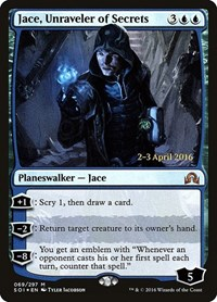 Jace, Unraveler of Secrets, Magic: The Gathering, Prerelease Cards