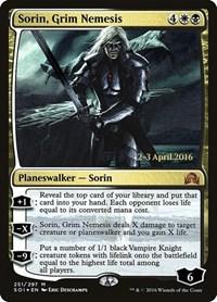 Sorin, Grim Nemesis, Magic: The Gathering, Prerelease Cards