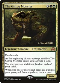 The Gitrog Monster, Magic: The Gathering, Prerelease Cards