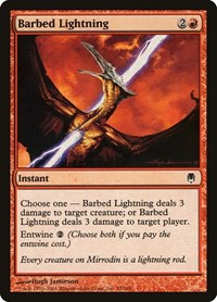 Barbed Lightning, Magic: The Gathering, Darksteel