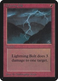 Lightning Bolt, Magic: The Gathering, Alpha Edition