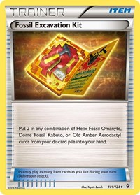 Fossil Excavation Kit, Pokemon, XY - Fates Collide