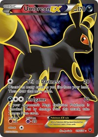 Umbreon EX (Full Art), Pokemon, XY - Fates Collide