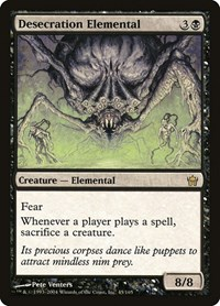 Desecration Elemental, Magic: The Gathering, Fifth Dawn