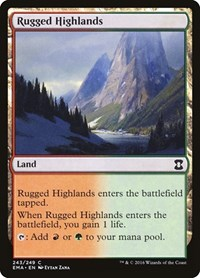 Rugged Highlands, Magic: The Gathering, Eternal Masters