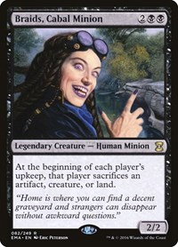 Braids, Cabal Minion, Magic: The Gathering, Eternal Masters