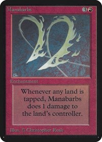 Manabarbs, Magic: The Gathering, Alpha Edition