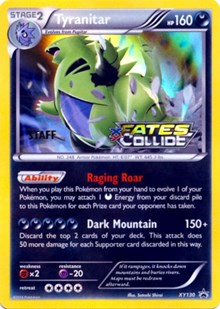 Tyranitar (Staff Prerelease), Pokemon, XY Promos