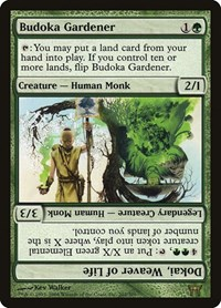 Budoka Gardener // Dokai, Weaver of Life, Magic: The Gathering, Champions of Kamigawa