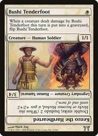 Bushi Tenderfoot // Kenzo the Hardhearted, Magic: The Gathering, Champions of Kamigawa