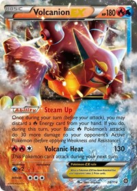 Volcanion EX, Pokemon, XY - Steam Siege
