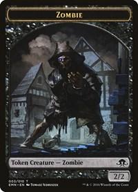 Zombie Token (3), Magic, Eldritch Moon