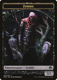 Zombie Token (4), Magic, Eldritch Moon