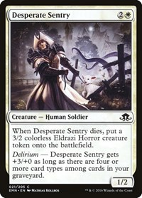 Desperate Sentry, Magic: The Gathering, Eldritch Moon