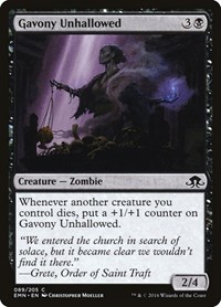 Gavony Unhallowed, Magic: The Gathering, Eldritch Moon