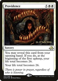 Providence, Magic: The Gathering, Prerelease Cards
