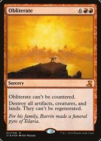 Obliterate, Magic: The Gathering, From the Vault: Lore