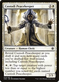 Custodi Peacekeeper, Magic: The Gathering, Conspiracy: Take the Crown