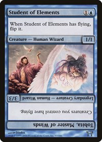 Student of Elements // Tobita, Master of Winds, Magic: The Gathering, Champions of Kamigawa