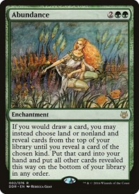 Abundance, Magic, Duel Decks: Nissa vs. Ob Nixilis