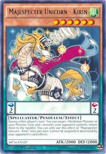 Majespecter Unicorn - Kirin, YuGiOh, 2016 Mega-Tins Mega Pack