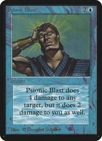 Psionic Blast, Magic: The Gathering, Alpha Edition