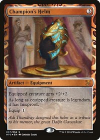Champion's Helm, Magic: The Gathering, Masterpiece Series: Kaladesh Inventions