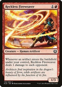 Reckless Fireweaver, Magic: The Gathering, Kaladesh