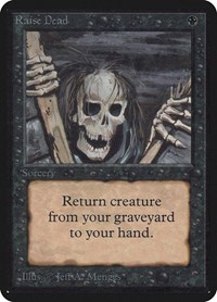 Raise Dead, Magic: The Gathering, Alpha Edition