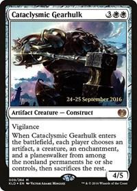 Cataclysmic Gearhulk, Magic: The Gathering, Prerelease Cards