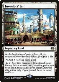 Inventors' Fair, Magic: The Gathering, Prerelease Cards
