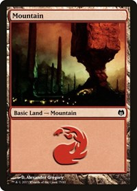 Mountain (75), Magic: The Gathering, Duel Decks: Heroes vs. Monsters