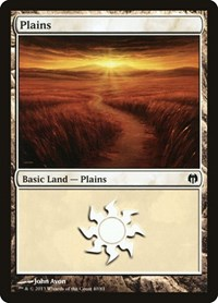 Plains (40), Magic: The Gathering, Duel Decks: Heroes vs. Monsters