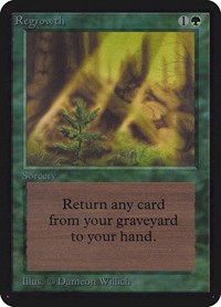 Regrowth, Magic: The Gathering, Alpha Edition