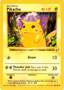 Pikachu (E3 Stamped Promo with Red Cheeks), Pokemon, Miscellaneous Cards & Products