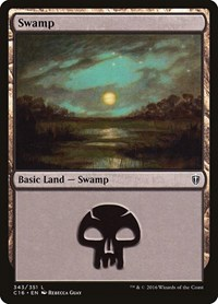 Swamp (343), Magic: The Gathering, Commander 2016