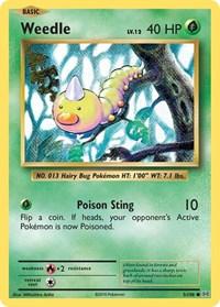 Weedle, Pokemon, XY - Evolutions