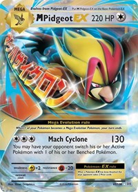 M Pidgeot EX, Pokemon, XY - Evolutions