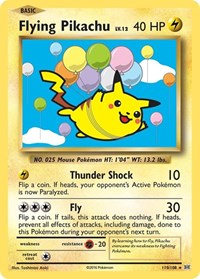 Flying Pikachu, Pokemon, XY - Evolutions