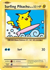 Surfing Pikachu, Pokemon, XY - Evolutions